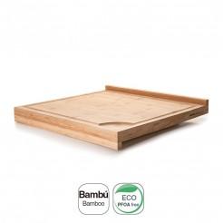 Tabela de Corte Duplo em Bambu Natural