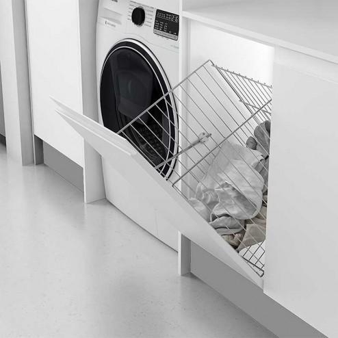 Funil-cesto para roupas rebatível