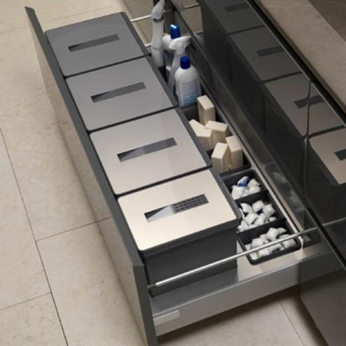Caixotes do Lixo Reciclagem Aço Inox e PVC