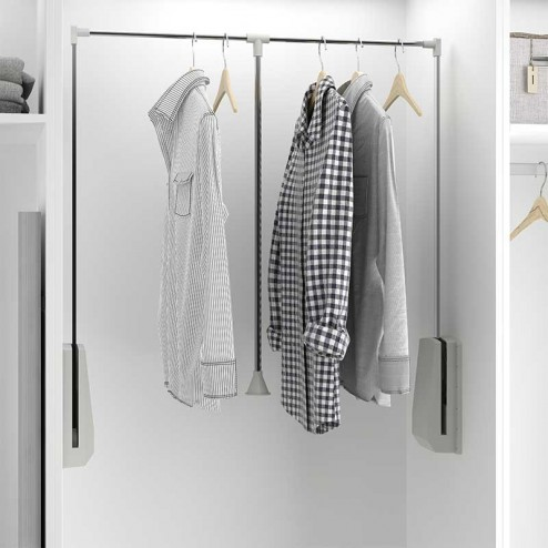 Elevador roupa dobrável roupeiro armário