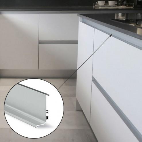 Perfil Gola Superior Horizontal Alumínio Cozinha