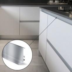 Perfil Gola Superior Horizontal Em Inox, Cozinha