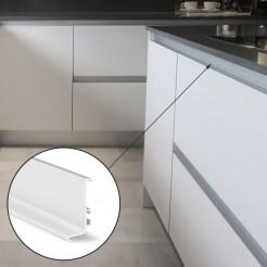 Perfil Gola Superior Horizontal Branco Cozinha
