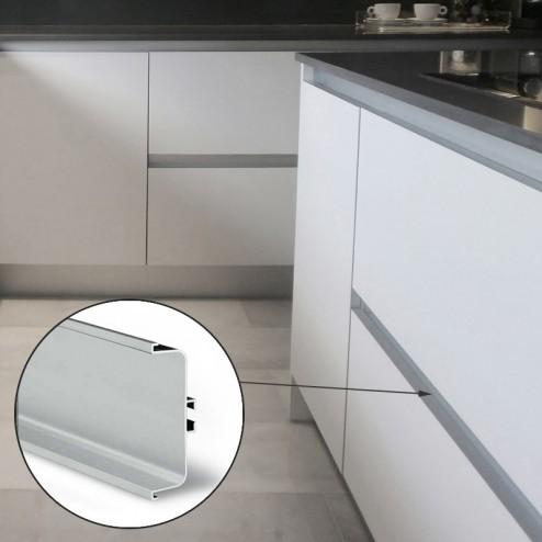 Perfil Gola Intermédio Horizontal Alumínio Cozinha