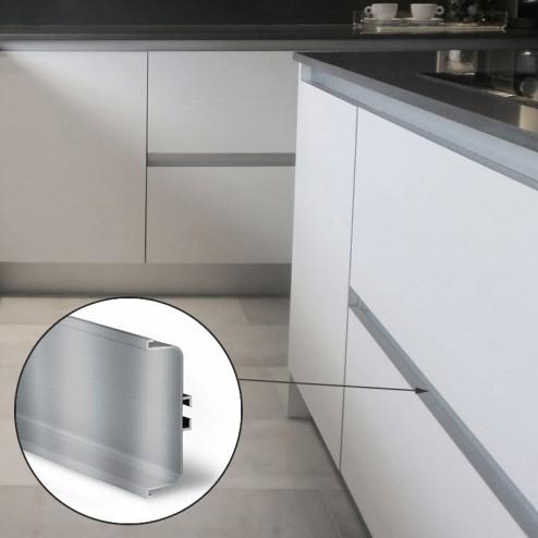 Perfil Gola Intermediário Em Inox, Horizontal Cozinha
